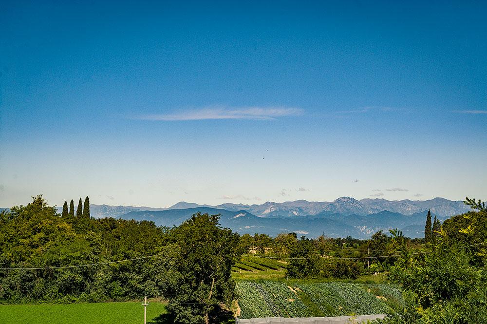 La vista sulle montagne